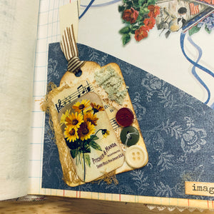 Buttons & Butterflies #2 by Kimberly Clayton (Feb. Challenge Journal)