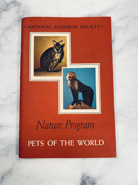 Audubon Nature Program Pets of the World Vintage Booklet