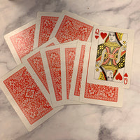 10 Large Red Playing Cards - LZ