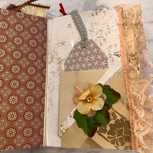 Loved & Found Altered Book Junk Journal by Debby Boyce