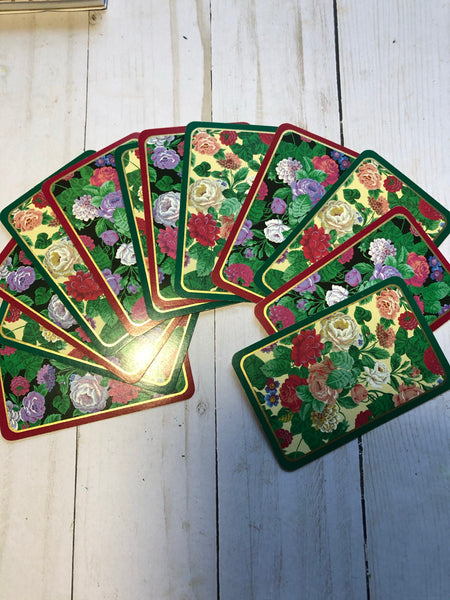 Floral Playing Cards-Set of 12 -JH