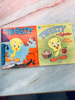 Vintage Children's Book Tweety Bird Lot of 2 - LZ