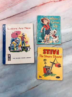 Vintage Children's Book Mini Lot of 3 - LZ