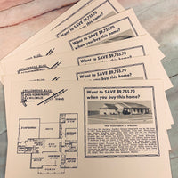 Vintage Real Estate Home Ads set of 10 - LZ