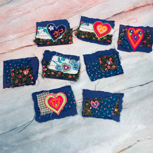 Happy Hearts Stitched Snippets - LZ