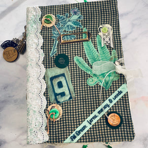 All Green Junk Journal by Diane Goolsby (January 2020 Challenge)