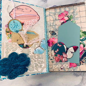 Blooms & Butterflies Junk Journal by Yvette Quale