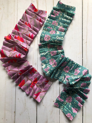 2 Large Fabric Ribbons -JH