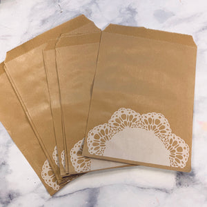 Brown Paper Doily Bags set of 10 - LZ