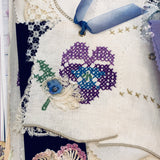 Lavender Pansy Love Junk Journal Kit by Elizabeth Knapp