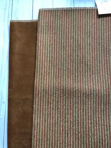Caramel Stripes Upholstery Fabric - JH