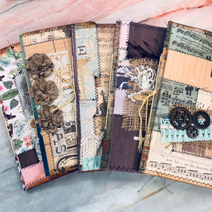 Set of 5 Franken Paper Journals by Diana Smith