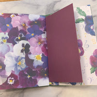 Pretty Pansies Basic Junk Journal #5 - LZ