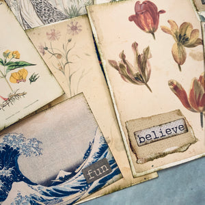 Graceful Journal Cards in Wallpaper Pouch - LZ