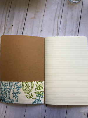 Fabric Covered Altered Notebook - JH