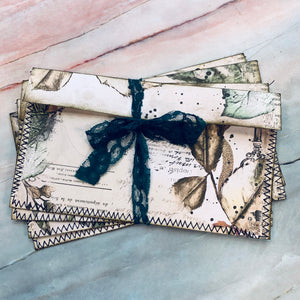 Lush Forest Stitched Envelope Pouches set of 4 - LZ