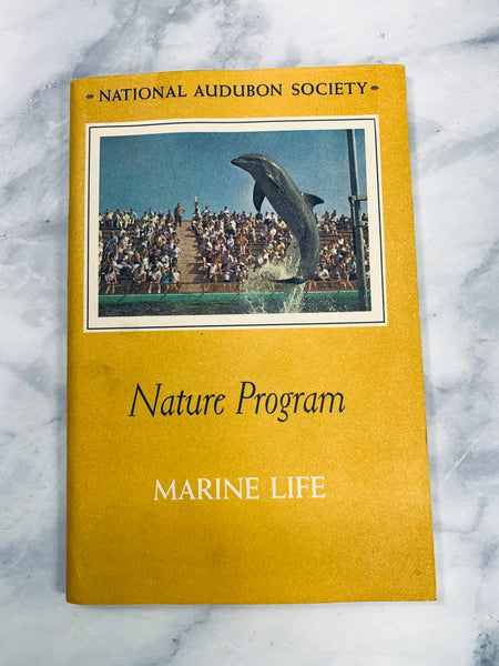 Audubon Nature Program Marine Life Vintage Booklet