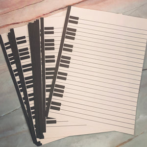 20 Vintage Music Stationary Sheets - LZ