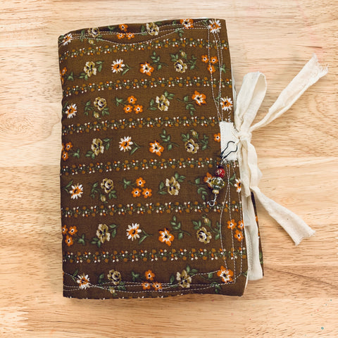 Dark Brown Fabric Junk Journal by Sophie from China