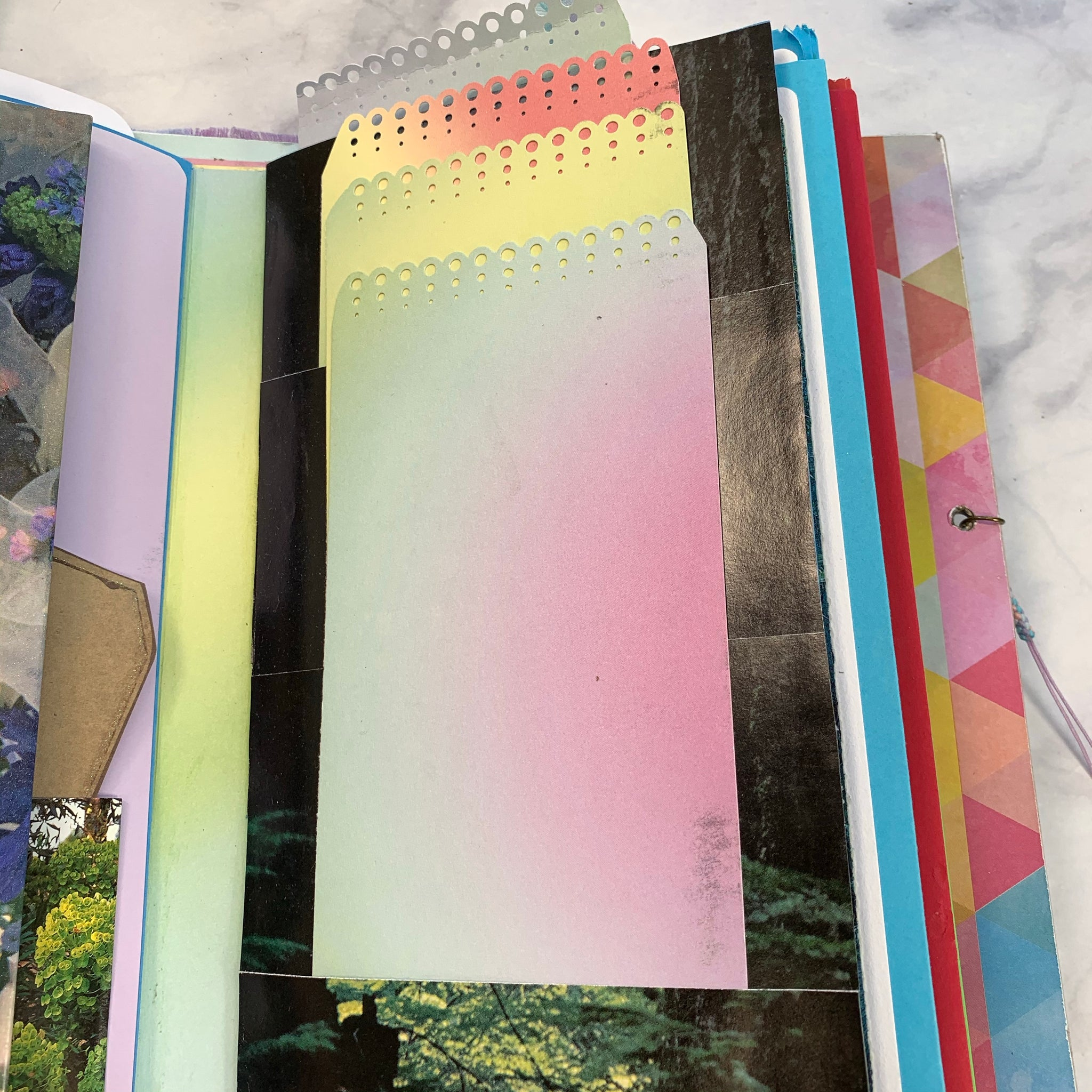 Pastels & Flowers Album Journal by Vickey Phelps