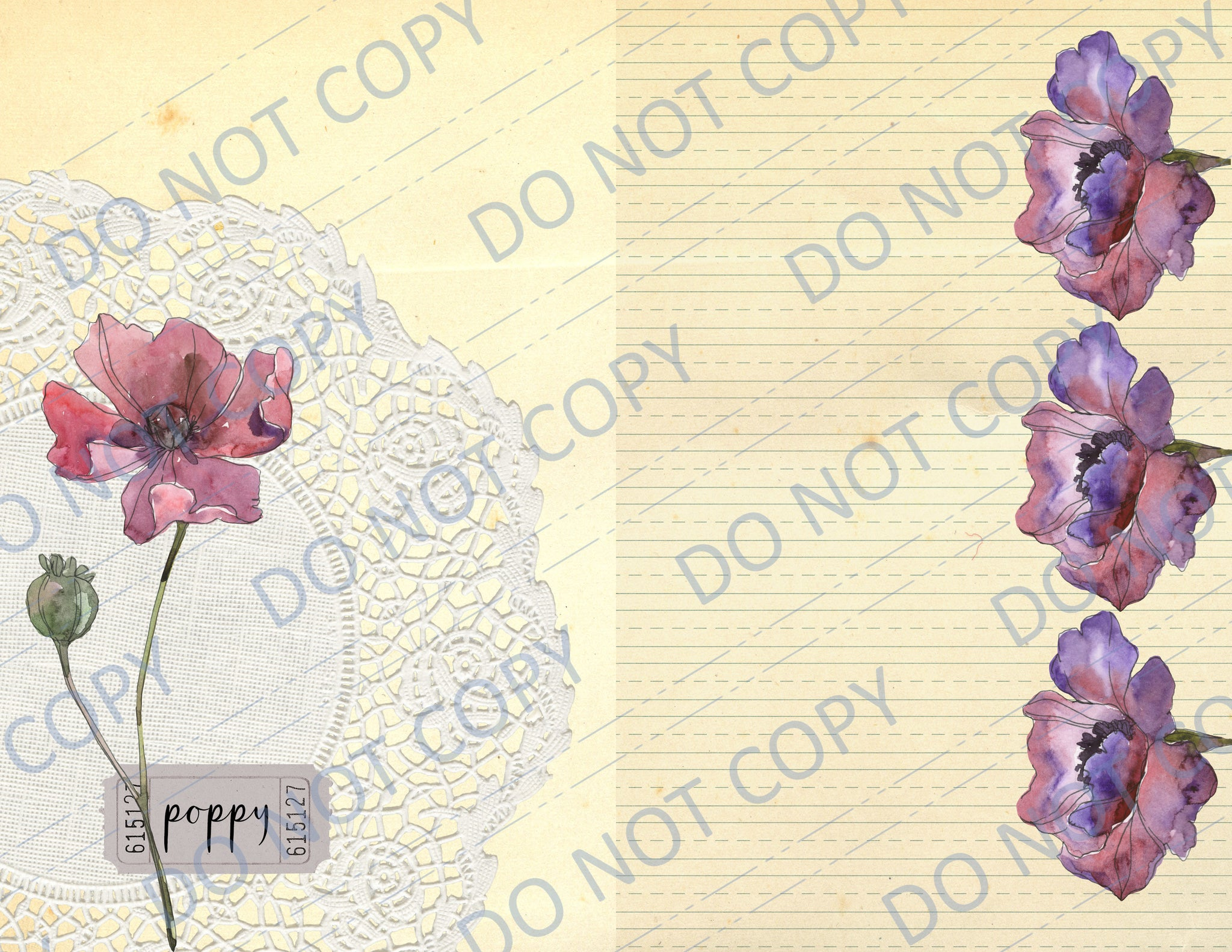 Peaceful Poppies DIGITAL Journal Kit