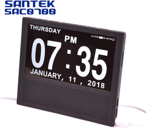 Digital Medicine Clock and Photo Frame Medication Reminders with 8 Alarm Options Calendar 7inch 1024x600 IPS Clear Display Large Letters