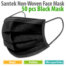 Load image into Gallery viewer, NEW BLACK 3-Ply Non-Woven Disposable Mask 50pcs