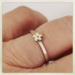 Tiny Sakura #4 Ring  in Sterling Silver - Ceeb Wassermann Jewellery