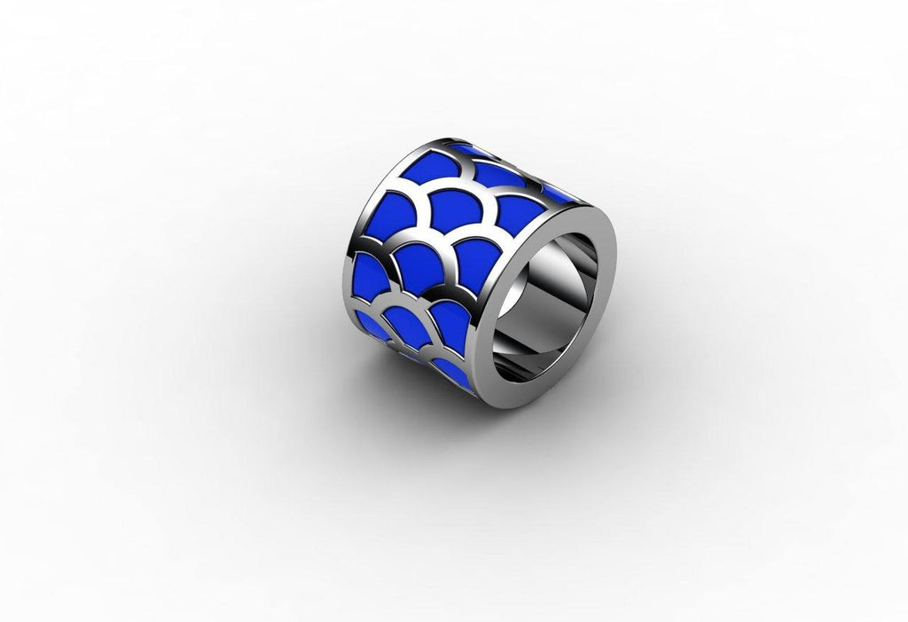 Wide, Thick  Koi Scale Ring - Ceeb Wassermann Jewellery