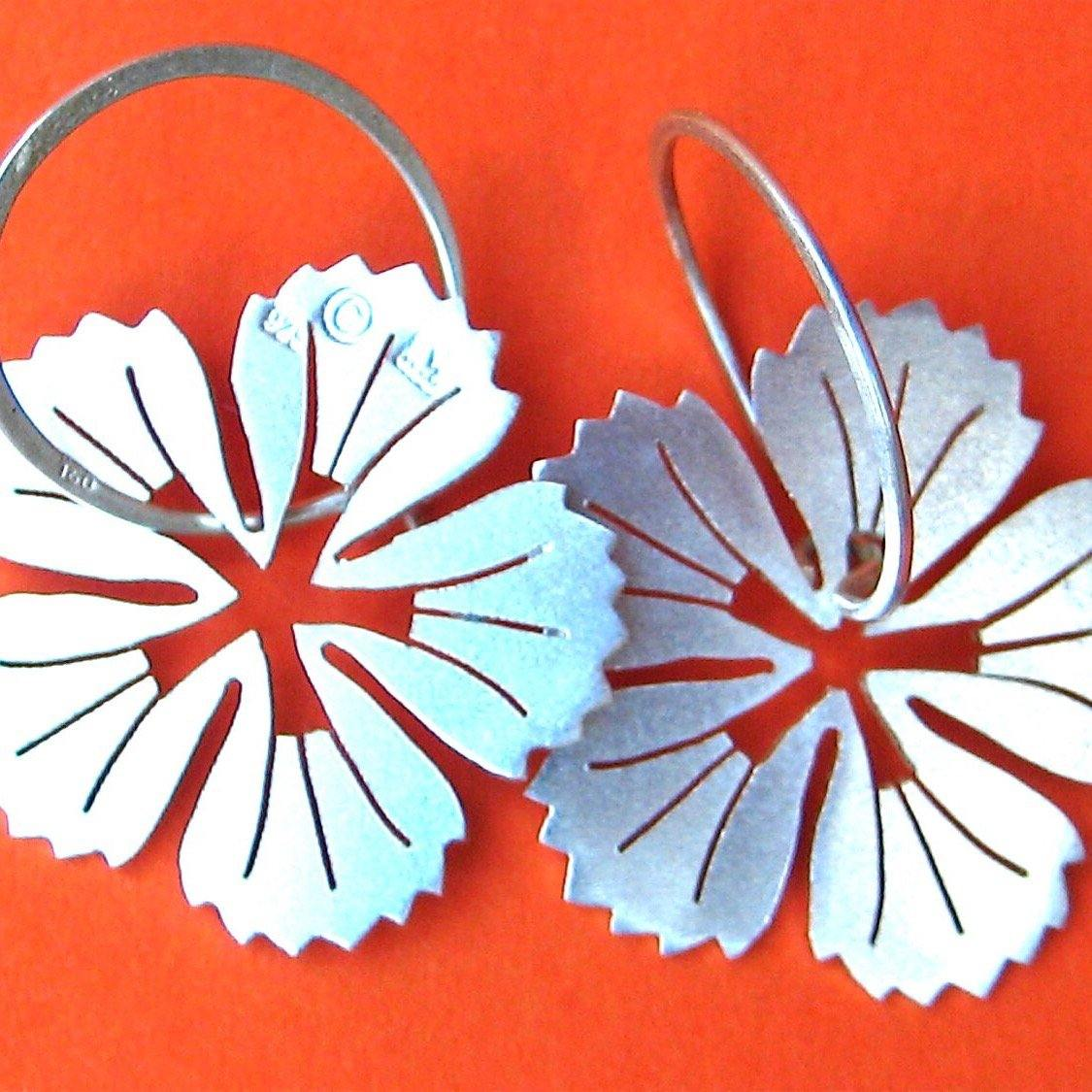 Kanehshon Sterling Silver Earrings - Ceeb Wassermann Jewellery
