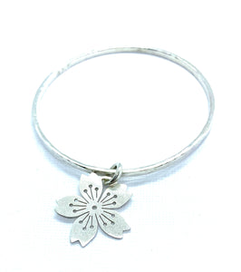 Sakura #4 Charm Bangle - Ceeb Wassermann Jewellery