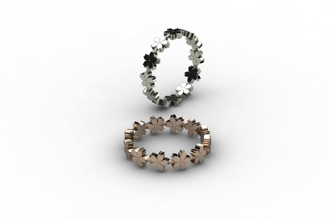 Tiny Sakuras (Number4) Ring. - Ceeb Wassermann Jewellery