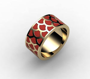 Koi Scales Ring - Ceeb Wassermann Jewellery