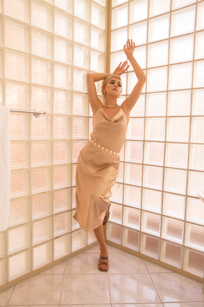 Slip Dress Beige