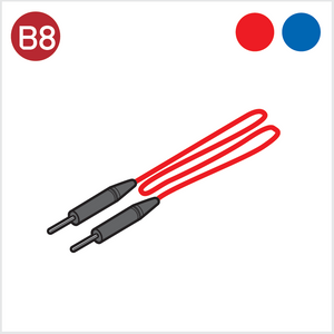 B8 - Lead Lines (Pair of Blue and Red line)