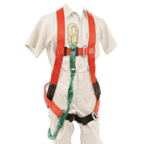 FULL BODY HARNESS WITH SHOCK LANYARD