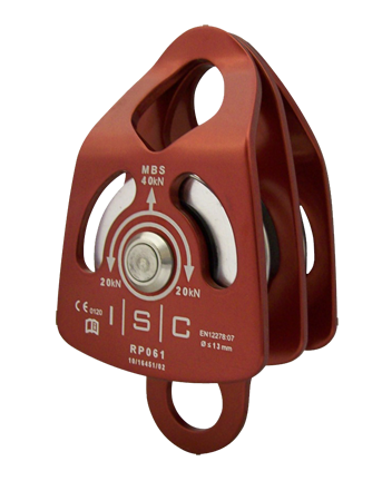 ISC SMALL DOUBLE ALUMINUM PULLEY