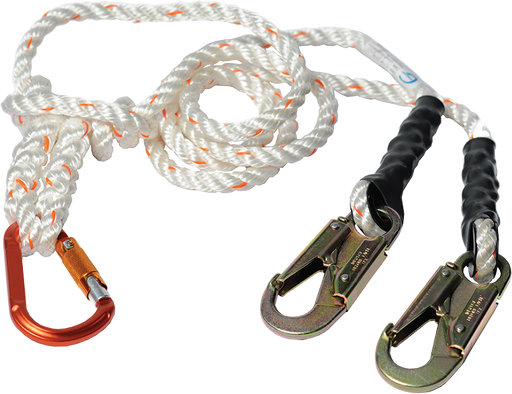 2 in 1 LANYARD with aluminum carabiner and steel snaps