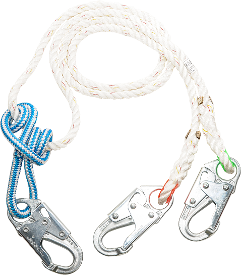 2 in 1 LANYARD with steel snaps, 16 strand adjuster