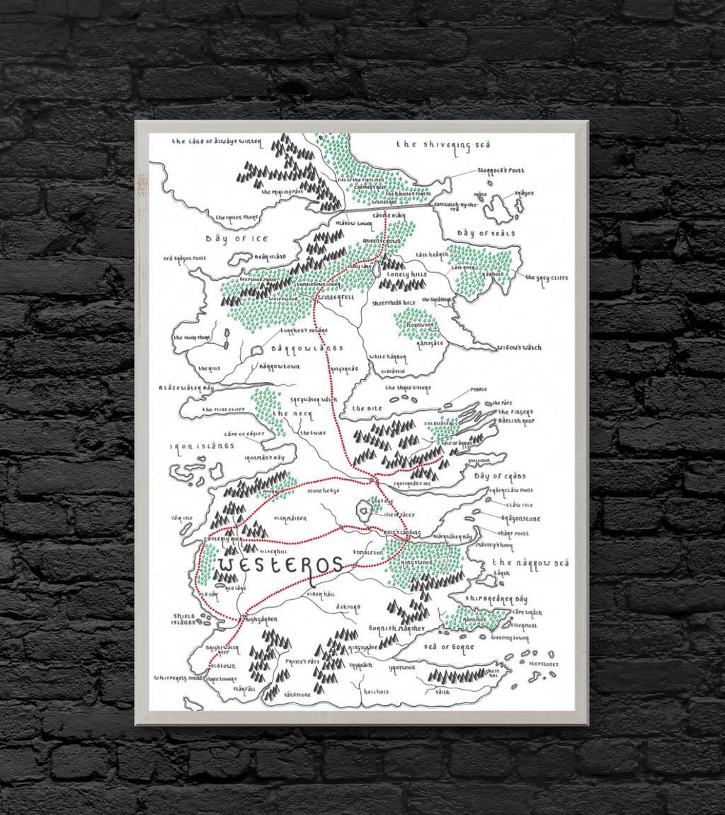 Westeros Map (Tolkien Style)