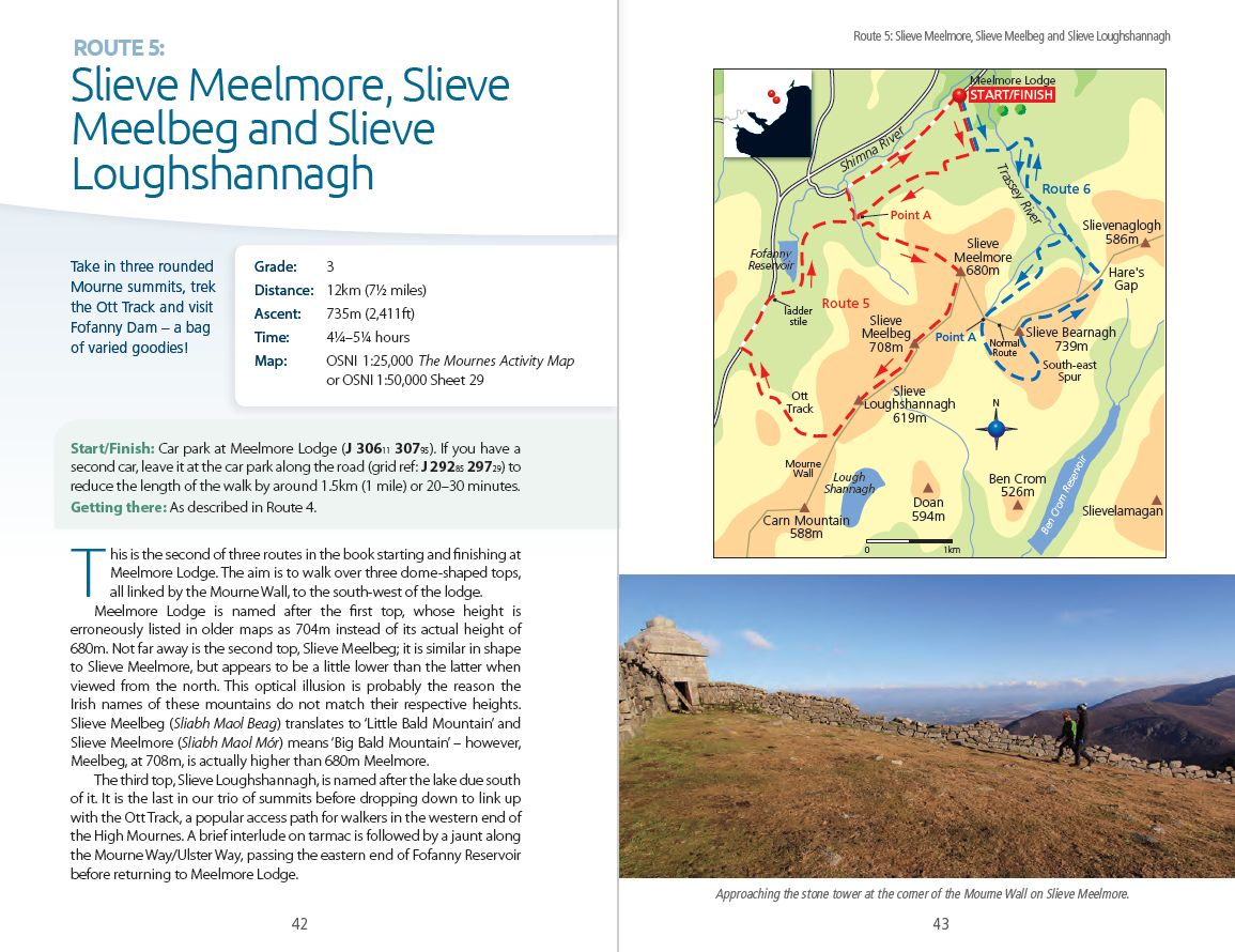 The Mourne and Cooley Mountains: A Walking Guide