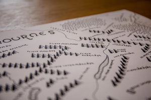Mourne Mountains Map (Tolkien Style)
