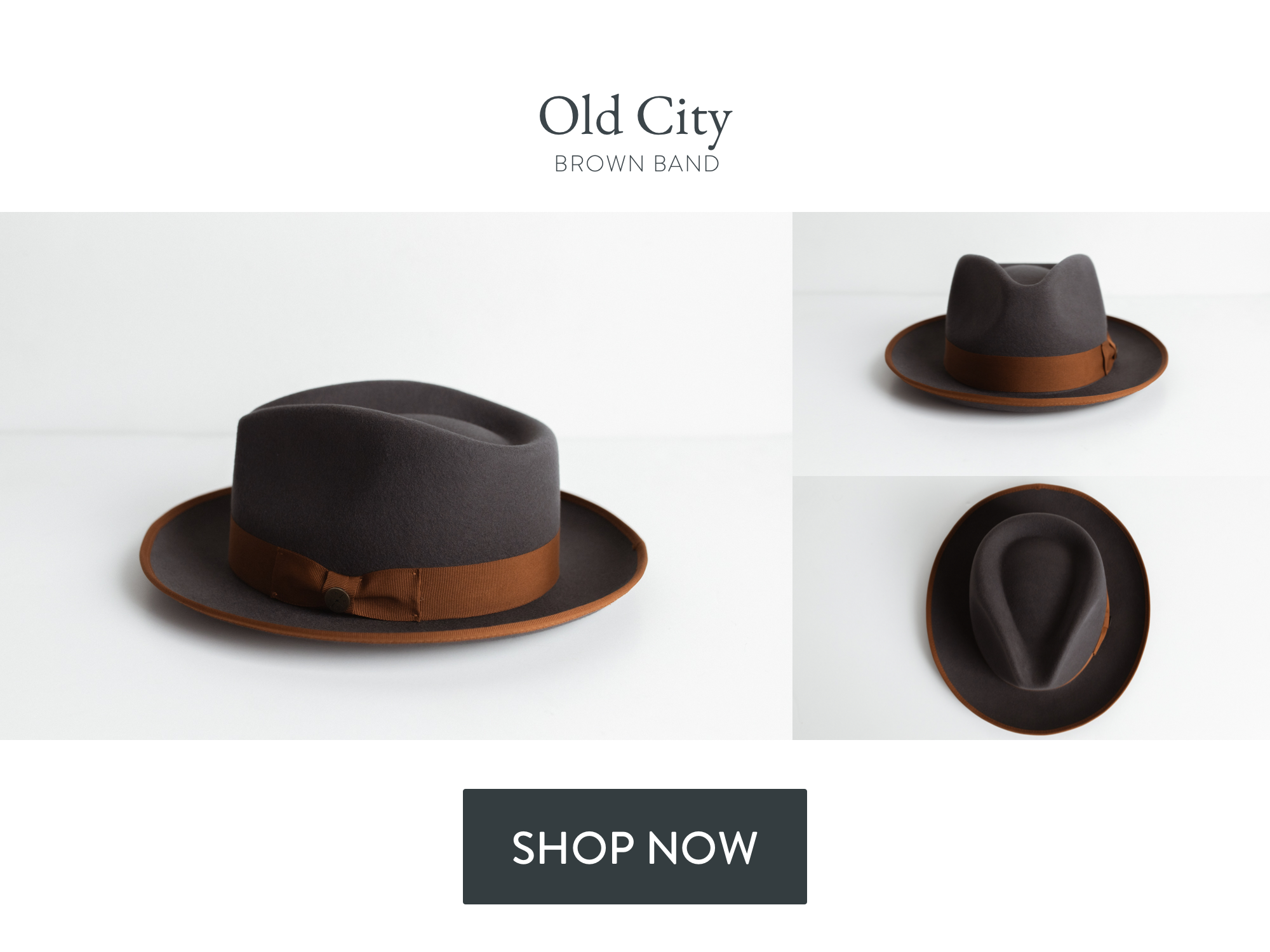 Featured hat: Two Roads Old City, Brown Band