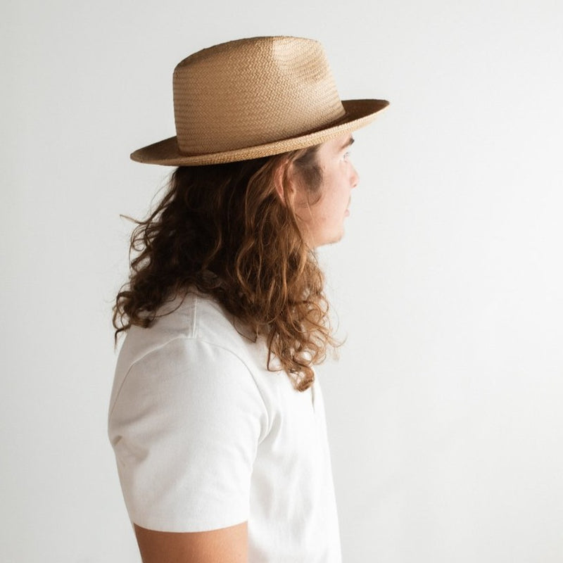 WYNWOOD STRAW FEDORA SUN HAT