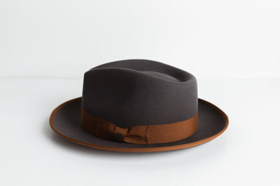 OLD CITY FEDORA HAT – BROWN BAND