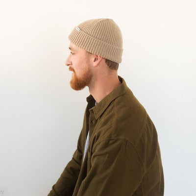 ROCKPORT FISHERMAN BEANIE – TAN