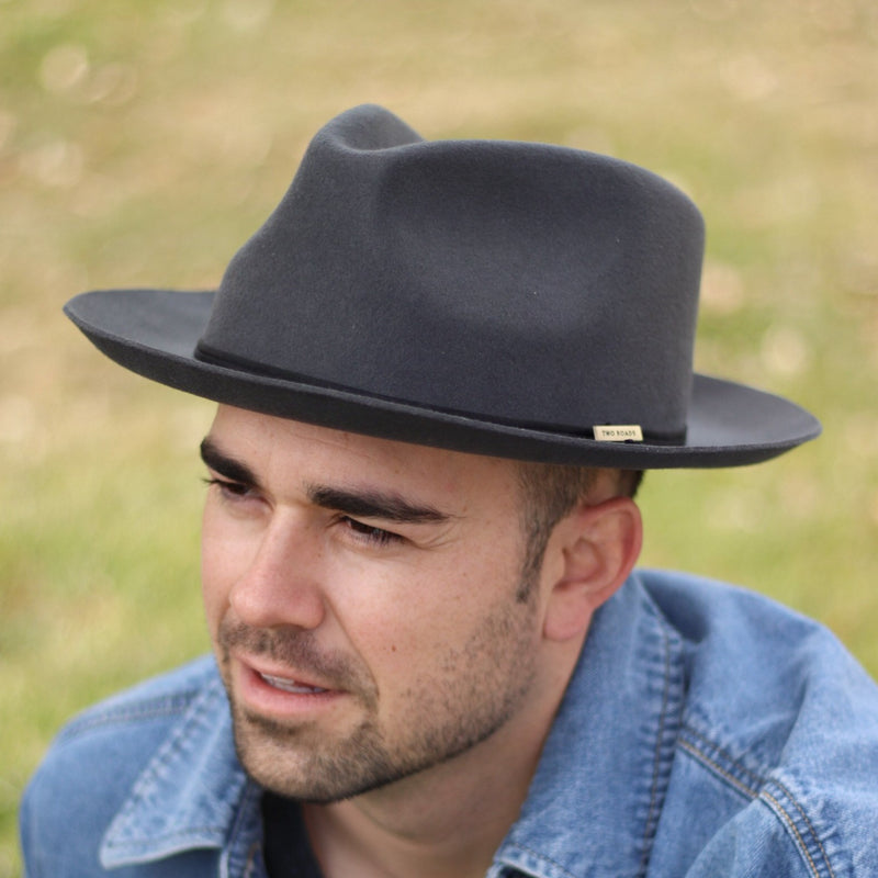 OLD CITY FEDORA HAT – BLACK BAND