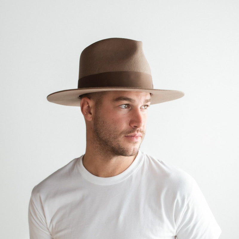 CORKTOWN FEDORA HAT – BROWN