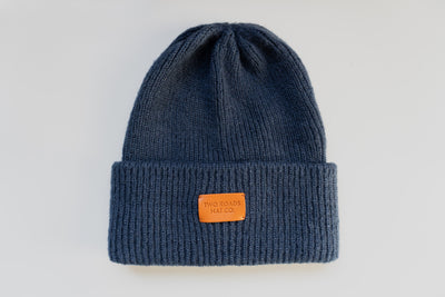SAWTOOTH THICK KNIT MEN'S BEANIE – NAVY