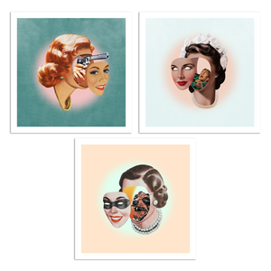 "face off collection 8""x8"" 3 print set"